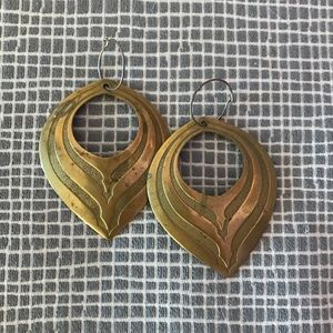 Vintage Brass Earrings